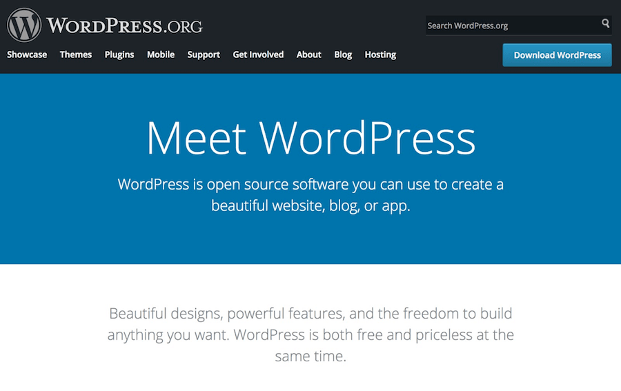 Wordpress org a free CMS