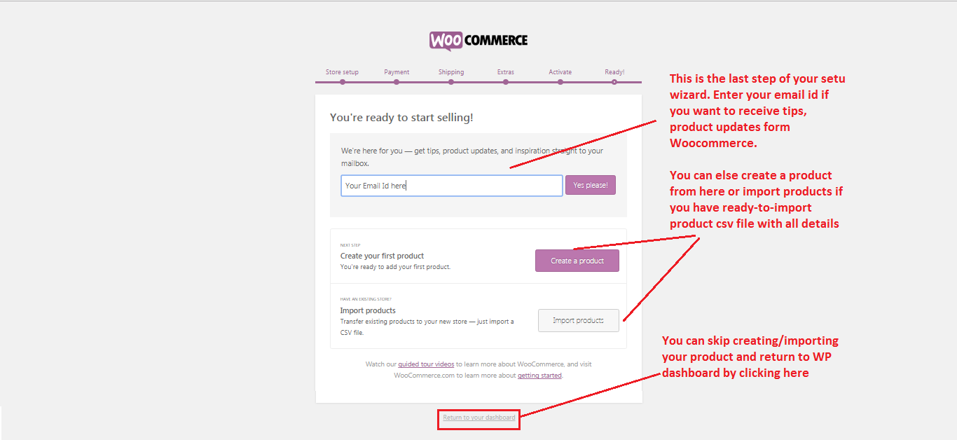 Woocommerce Ready to use