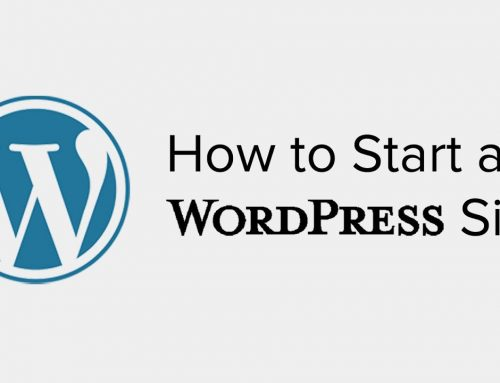 How to Start a WordPress Site [ Infographic ]